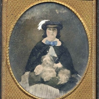 3 - Woman with dog on lap