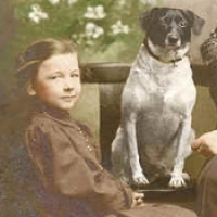 23 - Mother, child and dog between them