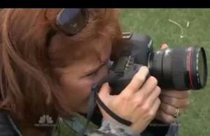 Lori holding camera - credit NBC